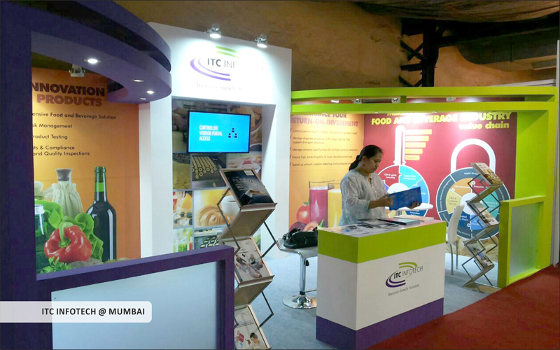 itc infotech booth design