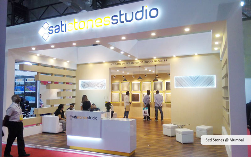 sati stones custom exhibition booth