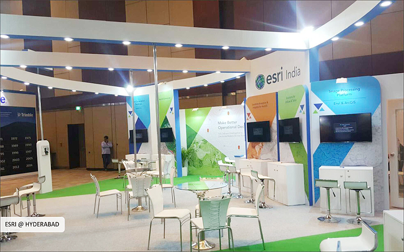 esri India exhibition booth design