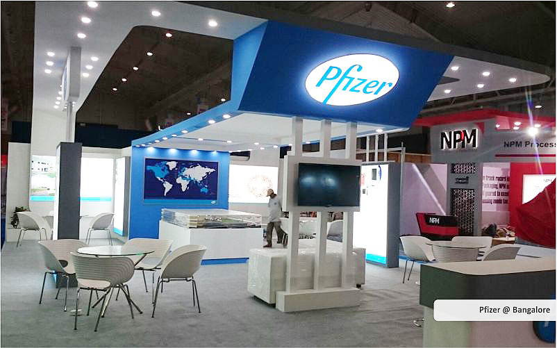 pfizer trade show displays