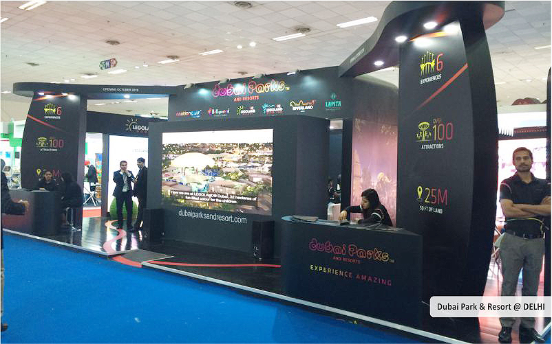 dubai park & resort booth design